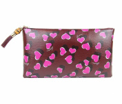 Gucci Ladies Burgundy Leather Large Heartbeat Pouch Clutch Bag 338815 5009