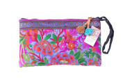 Purple Garden Tribal Bag Clutch Style with Thai Hmong Embroidered