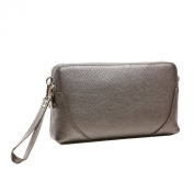 Missmay Women's Wristlet Clutch Shoulder Bag Crossbody Purse Top Leather Iphone 6 Plus Double Zipper