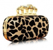 wuudi® Fashion Evening Bag Skull Rings Clutch Handbag
