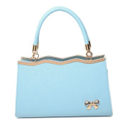 WenHong Office Lady PU Leather Fashion Simple Style Candy Colour Top-Handle Bag