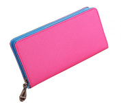 Mantos Eternity Women's Cow Leather Wallet Zip Around Case Purse Lady Wristlet Long Handbag Bag