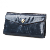 Mantos Eternity Wax Genuine Leather Long Clutch Envelope Wallet Purse Handbag Card Holder Case