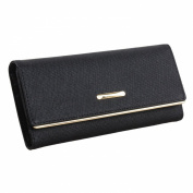 Mantos Eternity Women's Saffiano Clutch Wallet Trifold W Coin Purse