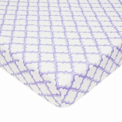 American Baby Company 100% Cotton Percale Fitted Crib Sheet, Lavender Moroccan Colour