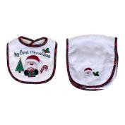 Nursery Rhyme My First Christmas Bib Set White