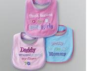 Baby Essentials Three Pack Bibs Daddy Wrapped Around My Finger