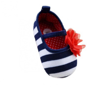 Lookatool Hot Baby Toddler Stripe Flower Shoes Soft Sole Kid Girls Shoes Prewalker