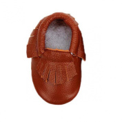 Lookatool Baby Tassel Soft Sole Cow Leather Shoes Infant Boy Girl Toddler Moccasin