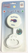 NFL Buffalo Bills White Plastic Baby Rattle