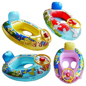 With Wheel Horn Baby Kid Child Swim Ring Inflatable Float Seat Boat Pool Fun