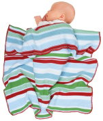 Wallaboo Organic Eden Striped Cotton Knit Newborn Baby Blanket, Large, Multicolor