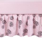 Balboa Baby Cotton Sateen Dust Ruffle - Pink Camellia