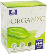 Organyc - Heavy Flow Night Pads - 10 Count - Pack of 3