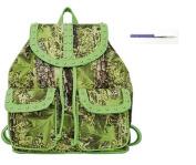 Camo Camouflage Western School Backpack Purse Pen Green