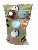 BB2 Large Minky Minkee Wet/ Dry Water Resistant Travel Grab & Go Cloth Nappy Bag