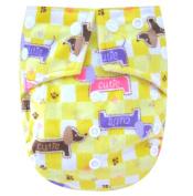 "Kawaii Baby One Size Snazzy Minky Cloth Nappy with 2 Microfiber Inserts ""Cutie"""
