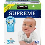 Kirkland Signature Supreme Nappies Size 3, Quantity 198