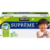 Kirkland Signature Supreme Nappies Size 5, Quantity 150