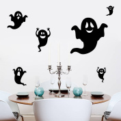 eHooray Happy Halloween Vinyl Stick Wall Decals Removable Festival Wall Stickers