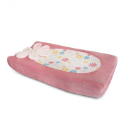 Kidsline Fanciful Floral Changing Pad Cover, Plush