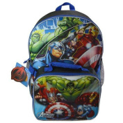 Marvels Avengers 41cm Large Backpack with Lunch Bag Supplies with Detachable Lunch Kit