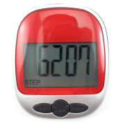 DDU(TM) 1Pc Red LCD Display Distance Calorie Counter Kit Fitness Running Jogging Step Pedometer