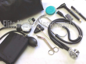 EMI Nurse Starter KIT BLACK (102) - 11 Pieces total! Stethoscope Blood Pressure Monitor and More
