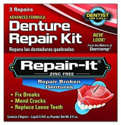 Dentemp Emergency Repair Kit Broken Dentures 3 repairs by The Miles Group