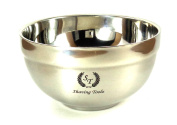 Shaving Toolz Large Double Wall Stainless Steel Bowl