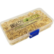 BeadsMonster Jewellery Findings Jump Rings, 10,12,14,16,20mm, Gold Colour, with Box