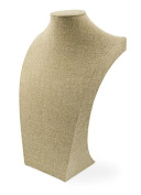 Burlap Jewellery Neckform 46cm Tall Jewellery Bust