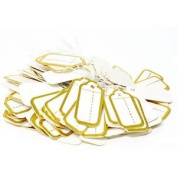100 pcs Scalloped String Tags - Gold