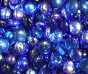 Creative Stuff Glass - 0.5kg - Shades of Blue Mix Glass Gems - Vase Fillers