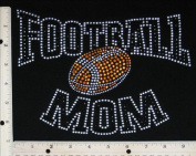 Rhinestone Iron On Transfer Sports Football Mom Design