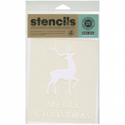 Hero Arts Scrapbooking Stencils, Merry Christmas Reindeer