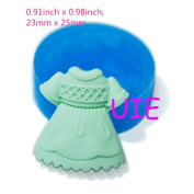 116LBF Dress Silicone Push Mould Kitsch Jewellery Charms Decoration Mould Mini Cupcake Topper