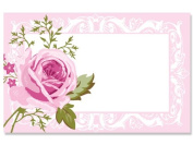 50 pack Delicate Pink RoseNo Sentiment Enclosure Cards