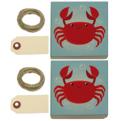 Cute Crab Kraft Gift Boxes Set of 2