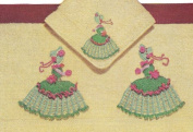 Vintage Crochet Pattern to make - Crinoline Lady Motifs Appliques. NOT a finished item. This is a pattern and/or instructions to make the item only.