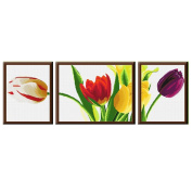 DOMEI Stamped Cross Stitch Kit, Beautiful Tulip, 130cm x 47cm