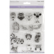 Multicraft Imports CS220-Y Clear Stamps 5.5X7 Sheet-Owl Medley