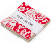 Hello Darling Moda Charm Pack By Bonnie and Camille; 110cm - 13cm Precut Fabric Quilt Squares