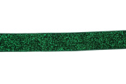 Trimweaver 1.6cm Glitter Fold Over Elastic for Craft, 5-Yard, Green