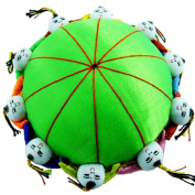 Rimobul Oriental Needle Pin Cushion with 10 Kids - Green