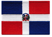 Dominican Republic Flag Embroidered Patch Caribbean Iron-On National Emblem