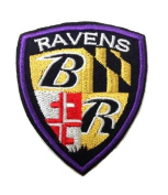 NFL Baltimore Ravens Iron on Shield Patch Embroidered 7.6cm x 6.4cm