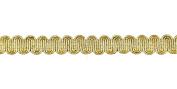 Belagio Enterprises Metallic Overlaid Braid, 1.6cm Wide, Gold