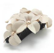 Meilliwish Flower Fabrics Ponytail Holder Banana Hair Clip (H29)