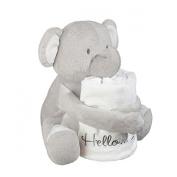 """Noah's Ark Plush Blanket Gift Set """"I'm New Here"""" Elephant"""